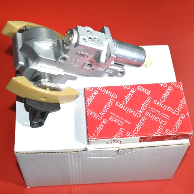OEM 4.2T V8 Engine Right 1-4Cyl Camshaft Timing Chain Tensioner Set For VW Phaeton Touareg A6 077109088P 077109087P