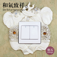 Multi Models Resin Switch Plate Wall Hangings Decorative Wall Stickers Stereoscopic Elephant Socket Adornment Household Wall