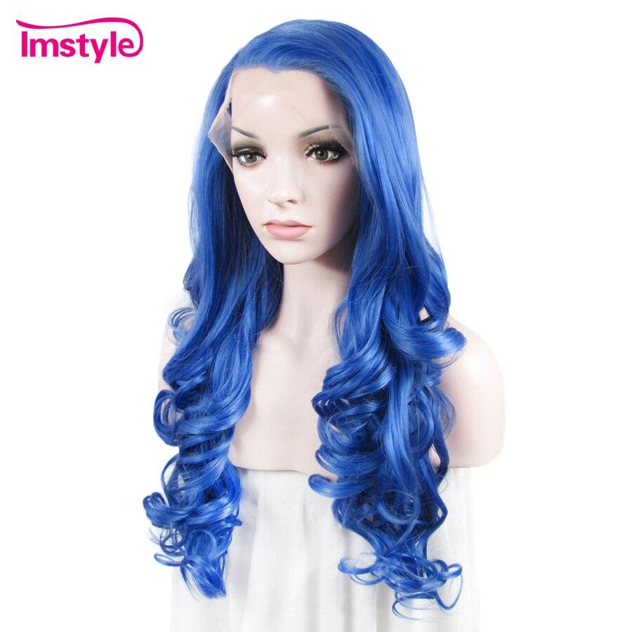 Imstyle Wavy Synthetic Blå färg 26