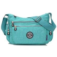 Горячие 15 цветов 2016 новые моды для женщин сумка Водонепроницаемый нейлоновый мешок Плеча Multil карман сумки женщины сумку