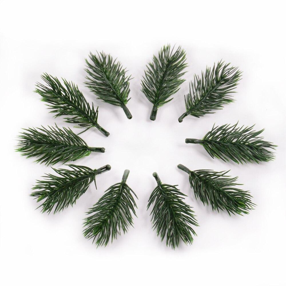 10 шт. сосновая игла искусственное растение искусственный цветок ветка для рождественской елки украшения аксессуары самодельный букет пода...