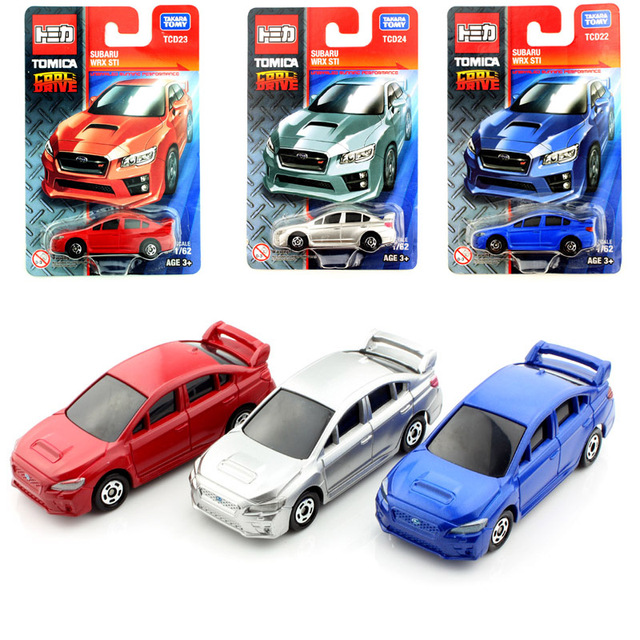 3pcsset tomy tomica kids subaru wrx sti diecast models race cars collectile play loose