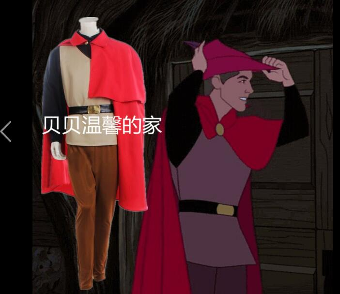 Halloween Sleeping Beauty Prince Phillip Costume Outfit Adult Men Plus size Costume Cosplay Costume Full Set