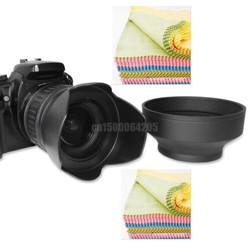 77 ММ Цветок и Складной Резина Бленда + Объектив ткань для 24-70 мм 24-105 мм 17-40 мм Бесплатная Доставка