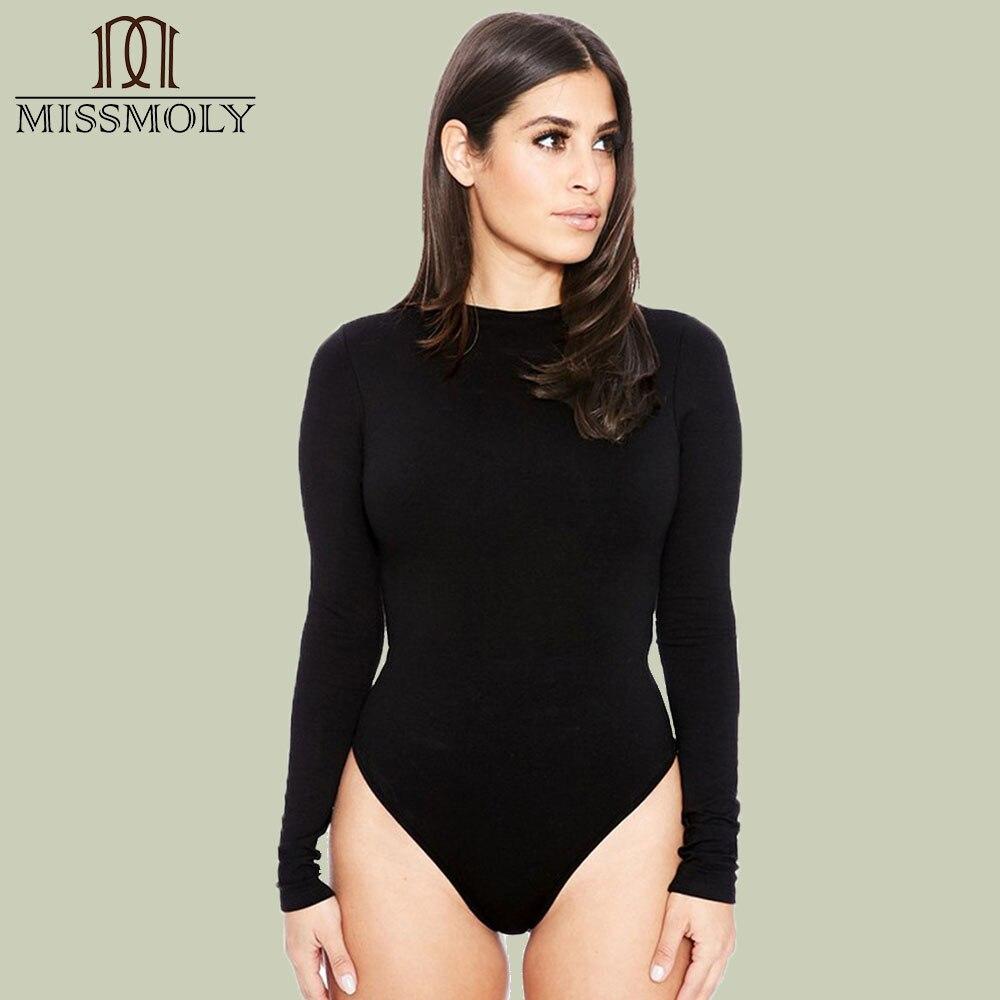 Miss Moly Bodysuit Women Rompers Womens   Jumpsuit   Long Sleeve Sexy Stretch Bodysuit Skinny Sleeveless Bodysuit   Jumpsuits