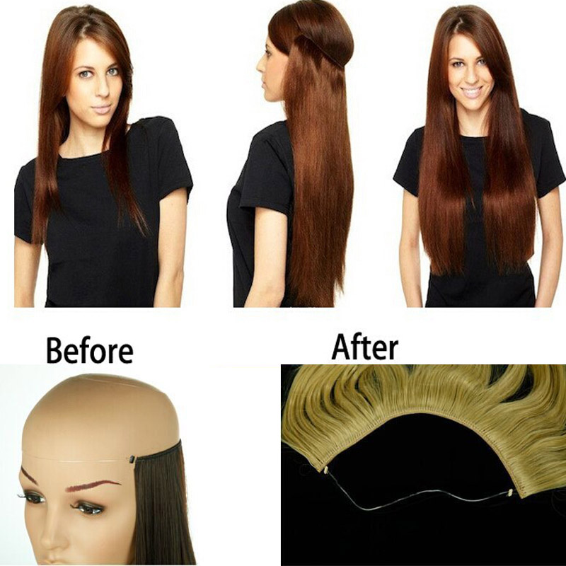 Natural straight hair clip in on hair extensions 22 inch 55cm natural straight hair clip in on hair extensions 22 inch 55cm length super long blonde hair black dark light brown hairpiece on aliexpress alibaba pmusecretfo Image collections