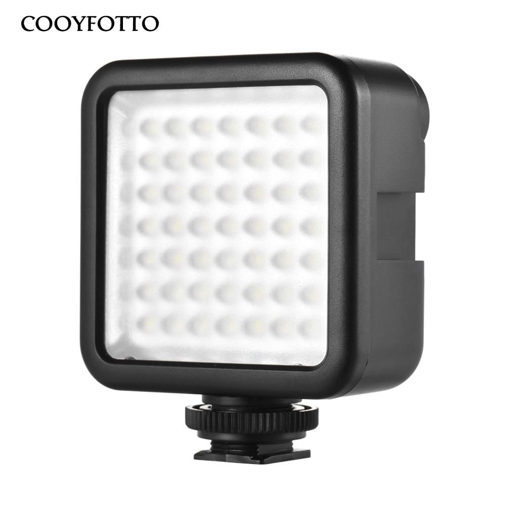 Mini LED Vidéo Lumière sur Caméra avec 3 Hot Shoe pour DSLR caméscope Mini DVR Nuit Remplissage Éclairage pour Nikon Canon Sony PK Godox