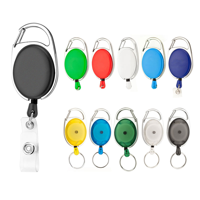 Retractable Pull Keychain Lanyard ID Badge Holder Name Tag Card Belt Clip Key Ring Chain Buckle  HYD88