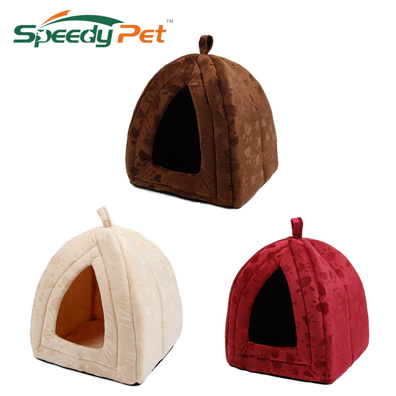 Ny Kom Pet Kennel Super Soft FabricDog Bed Prinsesse House Specificer til hvalp hund kat med pote Cama Para Cachorro Hot !!!