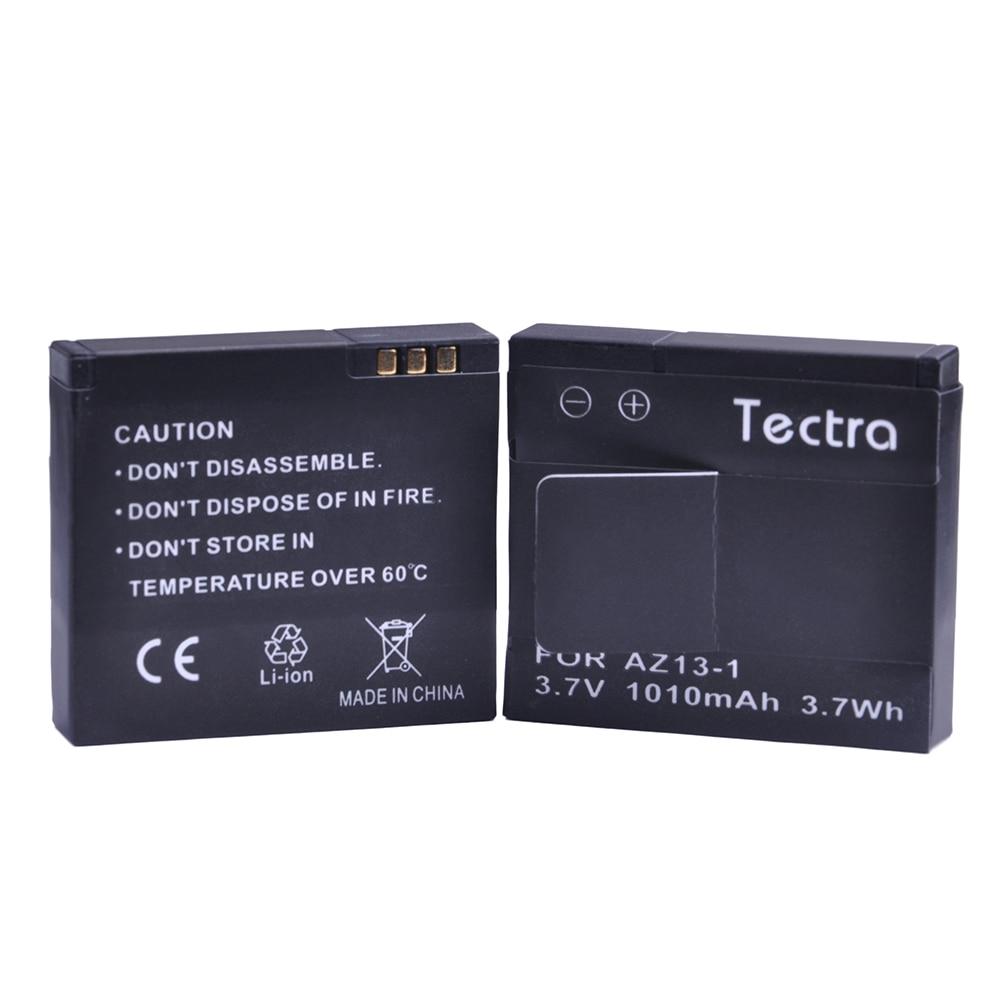 Tectra High Quality 2PCS 1010mAh AZ13-1 AZ13 Replacement Battery Batteria for Xiaomi Yi XiaoYi Xiaomi yi Action Camera Battery