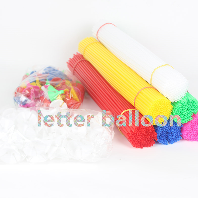 high quality 100pcs lot 40cm latex balloon stick white pvc rods for supplies balloons wedding balloon decoration accessories