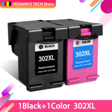 QSYRAINBOW  Compatible Black Color for HP 302 XL Ink Cartridge For Deskjet 2130 ENVY 4520 Officejet 4650 3630