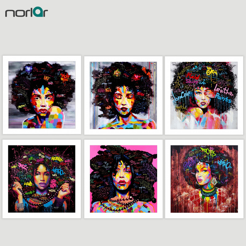 Hd Print Poster Wall Art Abstract Modern African Women