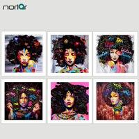 HD PRINT Poster Wandkunst Abstrakte Moderne Afrikanische Frauen Portrait Leinwand Ölgemälde Auf Leinwand Graffiti Street Für Wohnzimmer