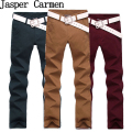 Free shipping! 2017 Men Casual Pants Trousers  and Solid Cotton pants Slim Fit and Mid- Rise length Pants 35