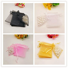 100pcs 11 Size Small & Big Organza Gift Bags White Christmas Gift Bag Organza Favor Party Wedding Pouches Jewelry Packaging Bags(China)