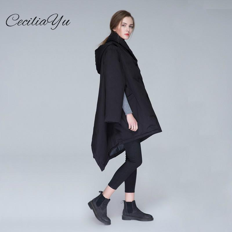 Ceciliayu 2018 Winter New Short Thickened   Coat   Autumn Winter New Female Cloak   Coat   Tidal   Down     Coat   Female Clothers