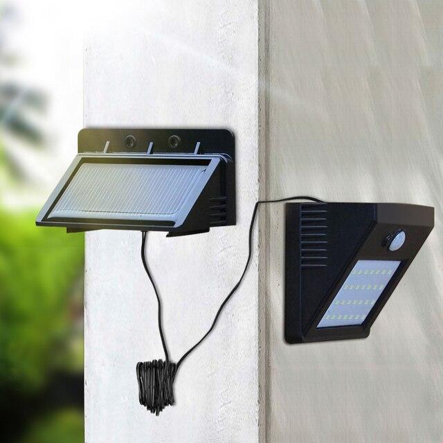 LED Güneş Gece Lambası Açık PIR Hareket Sensörü Güneş Enerjisi LED duvar lambası Için Ayrılabilir Yard Bahçe Kapı Yolu güvenlik aydınlatması