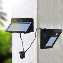 Led 태양 밤 빛 야외 pir 모션 센서 태양 전원 led 벽 램프 마당 정원 문 경로 보안 조명에 대 한 분리형