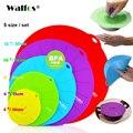 WALFOS Set de 5 cuencos de silicona para microondas cubierta de la tapa de la olla de cocina-silicona envoltorio de alimentos utensilios de cocina utensilio de cocina