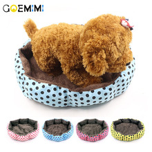2018 New Dog House Warm Pet Breathable Bed Dot Print Mat Sofa Cat for Small Teddy Removable Cushion cama para cachorro