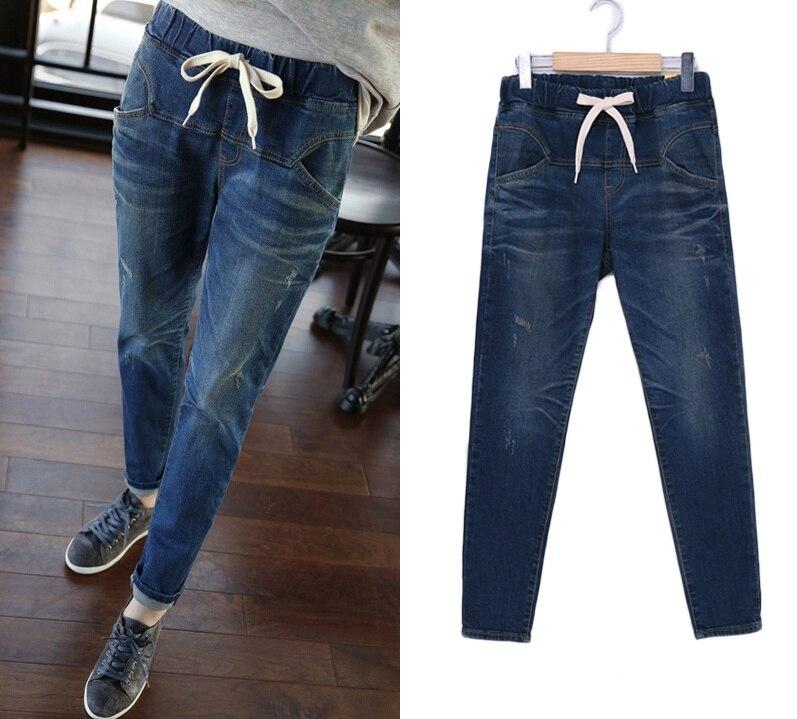 plus size 5xl denim jeans women summer style 2017 bermuda feminina loose harem pants female A0526