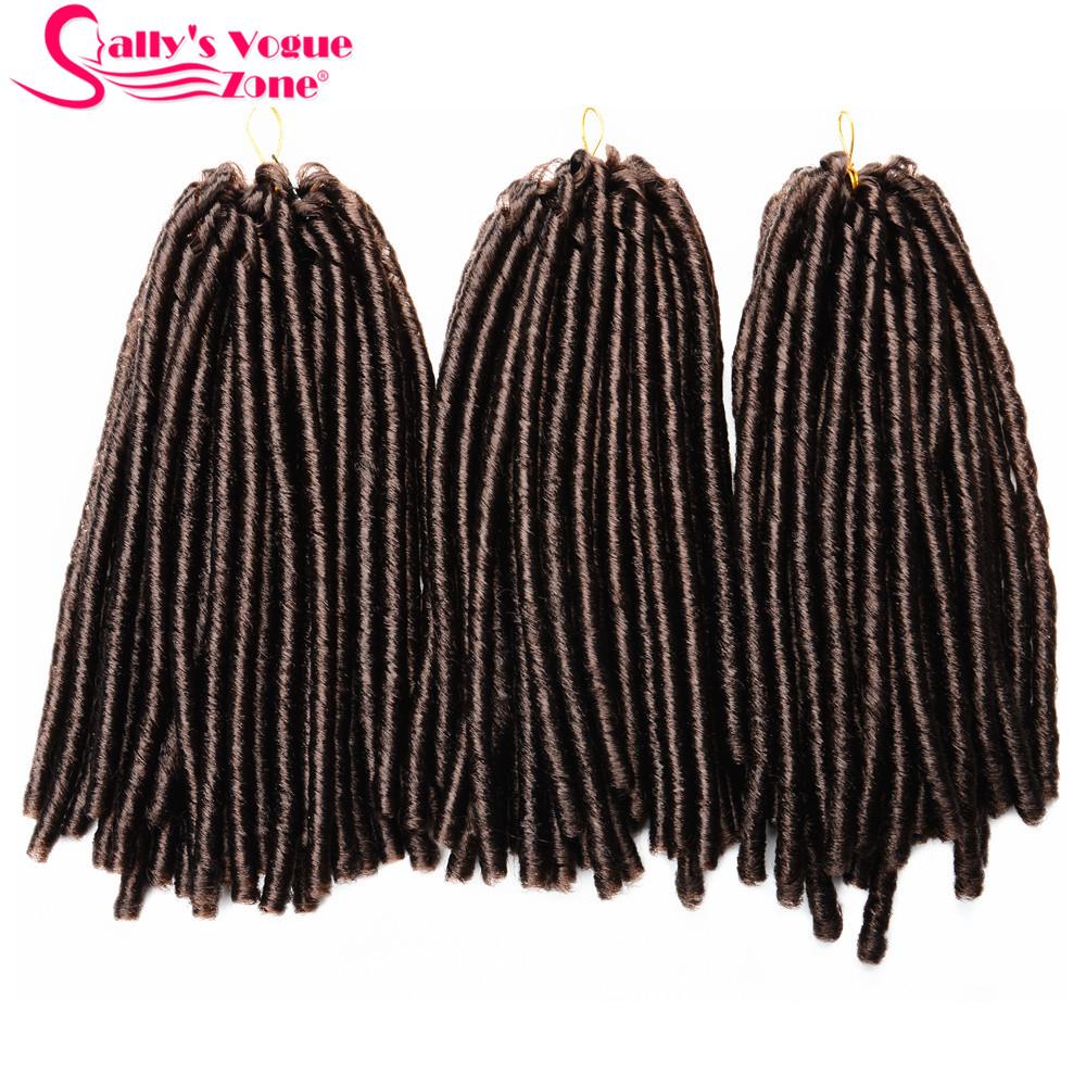 24 Roots Faux LocsCrochet Hair 18 Crochet Faux Lock Dreadlock Crochet Braids hair Extensions Synthetic Braiding hair Soft lock (142)_