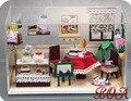 Сделай сам кукольный дом 1:12 миниатюрная модель строительство комплекты 3D ручной работы из дерева кукольный домик игрушка творческий подарок на день рождения - блаженный угол