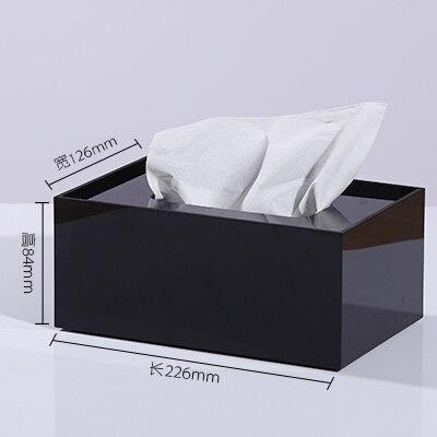 Мраморный узор, акриловая коробка для салфеток, креативный тканевый чехол для ванной комнаты, украшение для гостиной, держатель для бумаги в скандинавском отеле - Цвет: D