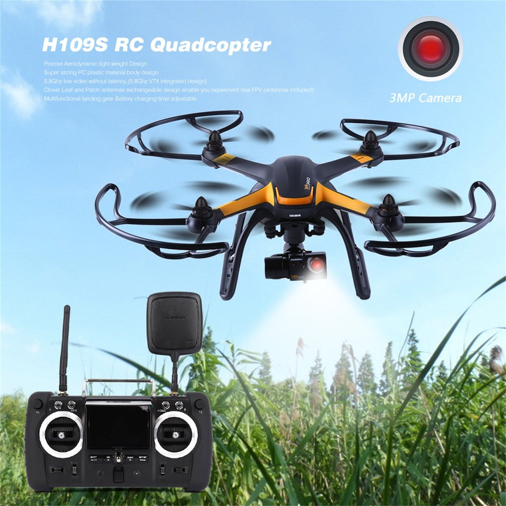 Hubsan X4 Pro H109S Black RC Drone 5.8G FPV with 1080P HD Camera 1 Axis Gimbal GPS 7CH Quadcopter RTF Drone Standard Edition Hot yuneec typhoon h 5 8g fpv drone with realsense module cgo3 4k camera 3 axis gimbal 7 inch touchscreen rc hexacopter rtf