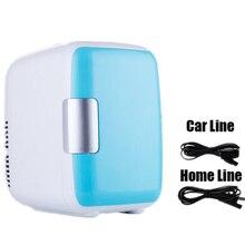 Двойного назначения 4 л для домашнего использования в автомобиле холодильники мини-холодильники морозильная камера охлаждающая нагревательная коробка косметический холодильник макияж холодильники