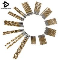 Doersupp 99pcs HSS Twist Drill Bit Set 1 5 10mm With Titanium Coated Surface 1 5