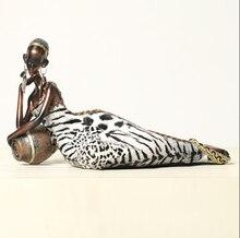 2015 new African women resin dolls crafts sleeping African woman high-grade resin ornaments wedding decoration