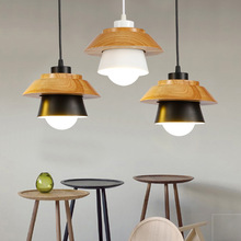 Wood Art Restaurant Bedroom Pendant Lights Bedside Individual Bar Creative  E27 Pendant Lamp Loft Style Dining Room Lights lican nordic restaurant pendant lights dining room bedroom lamp creative personality bar table lights pendant lamp home decors