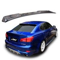 Углеродного волокна задний Багажник крыло спойлер подходит для Lexus IS IS250 IS300 IS350 2007 2013 автомобильные аксессуары