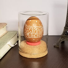 Hand Carved Egg Decor table lamp Collectible Happy Birthday Gift Egg Carving Night Light Gift lamparas de mesa para el dormitor(China)