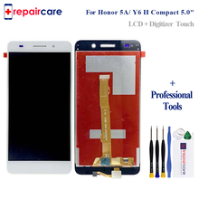5.0'' NEW For Huawei Honor 5A Y6 II Compact LYO-L01 LYO-L21 Full LCD DIsplay + Touch Screen Digitizer Assembly + Frame full lcd display touch screen digitizer assembly for huawei honor 4a y6 4g scl l21 5pcs dhl