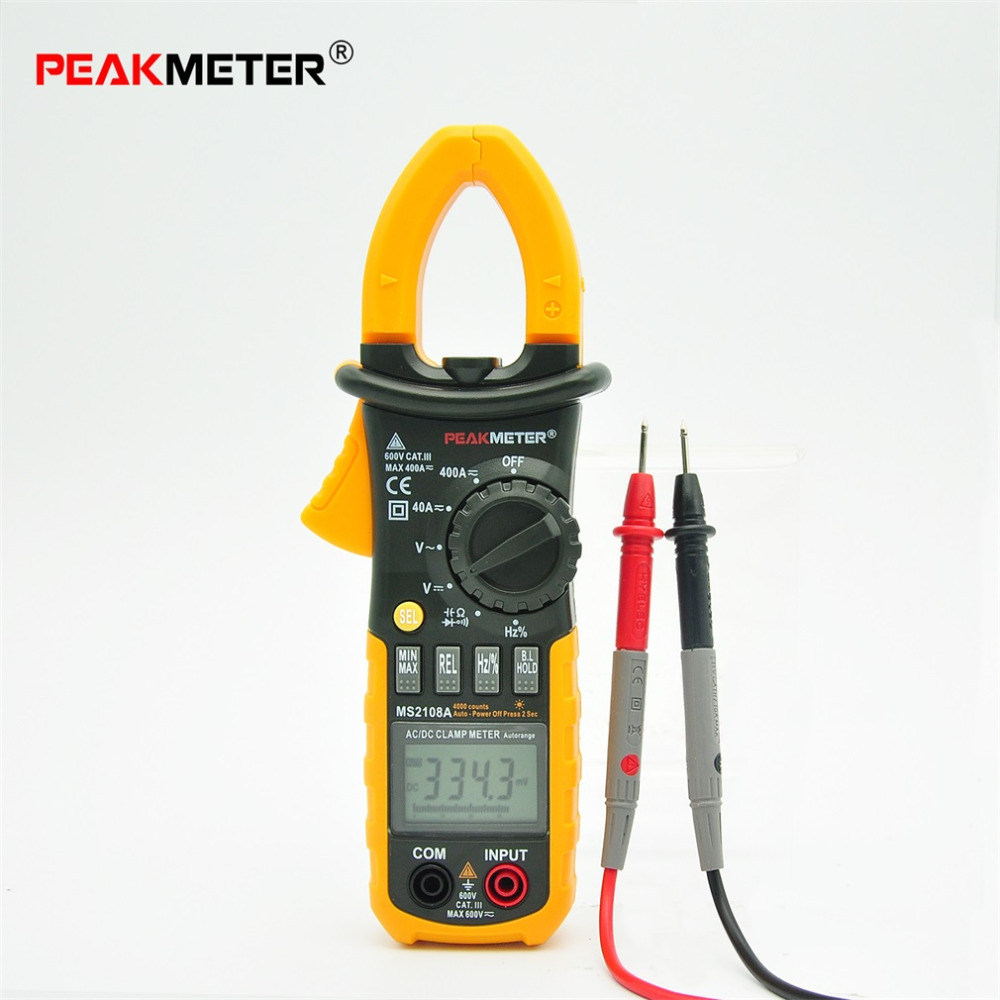 Portable HYELEC Digital Clamp Meter Multimeter AC DC Current Volt Tester Brand New mini multimeter holdpeak hp 36c ad dc manual range digital multimeter meter portable digital multimeter