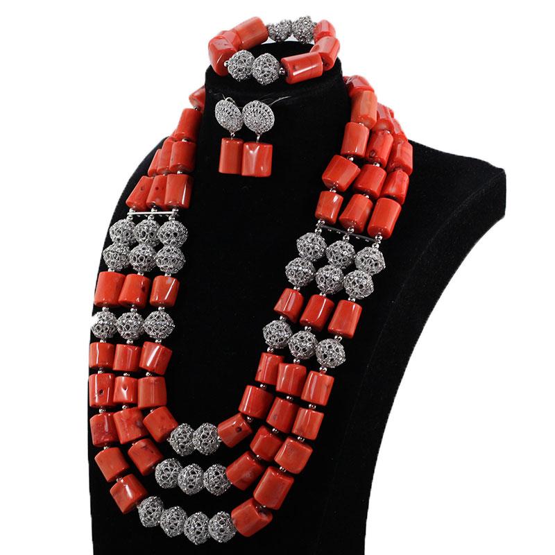 HTB1Ifu.lBTH8KJjy0Fiq6ARsXXa2 Gorgeous Original Purple Coral African Beads Jewelry Set Nigerian Brides Purple Wedding Jewelry Neckpiece Set CNR041