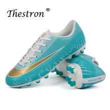 New Arrival Soccer Shoes For Men Soccer Shoes Football Outdoor Kids Trainers Boys Blue Green Spikes Shoes Athletics Sport Shoes nike new arrival 2017 magistax onda ii tf men s comfortable football shoes soccer shoes 844417 808