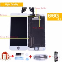 Screen original LCD for iPhone 6 6G Display Digitizer Touch Screen for iphone6 full lcd with small parts Assemby+Front Camera