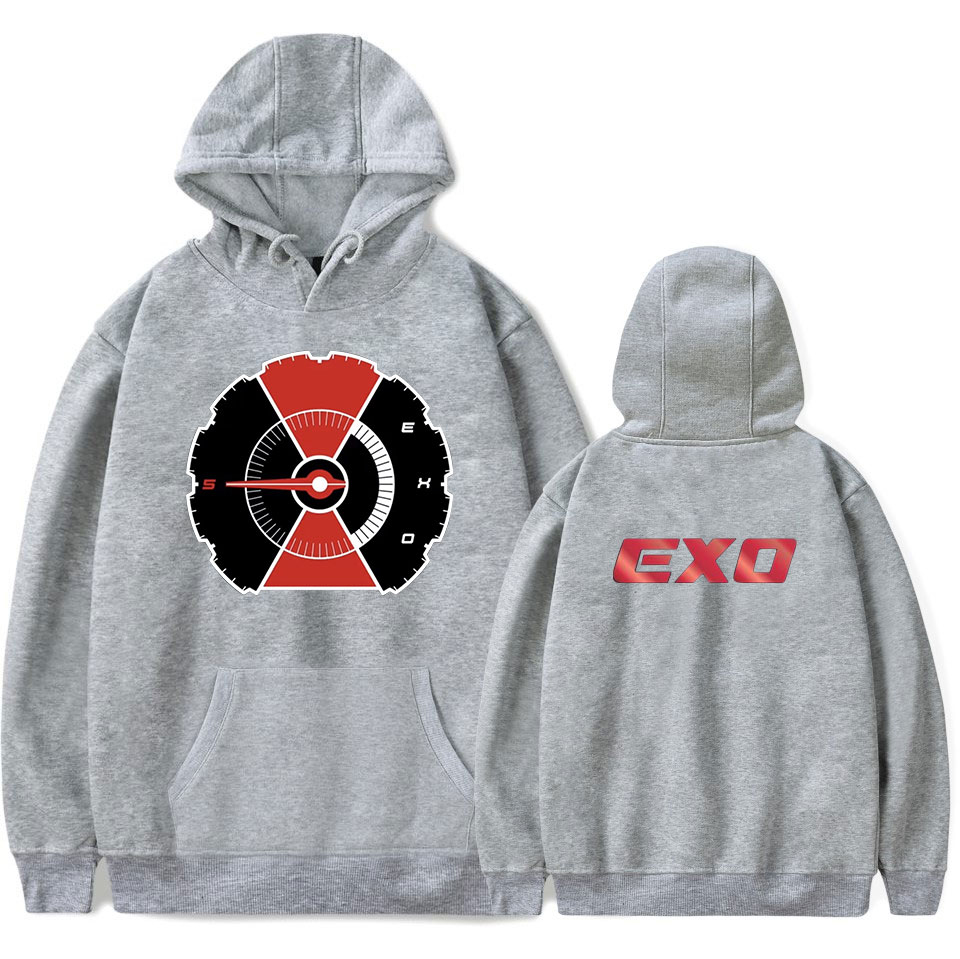d9e9529d99f 2019 K POP EXO Hoodies Black Hooded Sweatshirt Men Women Plus Size ...