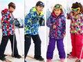 Crianças Outerwear Casaco Desportivo De Esqui Terno Crianças Conjuntos de Roupas À Prova D' Água À Prova de Vento Quente Girls & boys Casacos para-30 Graus 3-16 T