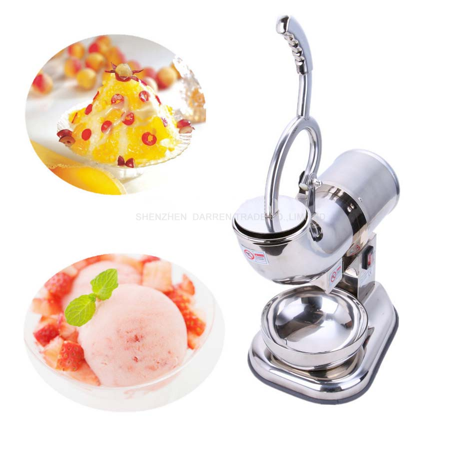 Fully Stainless Steel ice crusher shaver Snow Cone Machine electric Ice Shaver Maker Ice Crusher Maker 110v/220v ZY-SB114 jiqi electric ice crusher shaver snow cone ice block making machine household commercial ice slush sand maker ice tea shop eu us