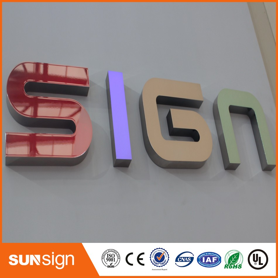 Hot Sale Stainless Steel Sign Frontlit Led Letters 3d