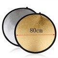 НОВЫЙ 80 см 5 в 1 Фотостудия Свет Mulit Фото диск Складной Отражатель Света Диск Вокруг с Zipped Круглый мешок