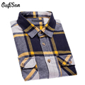 Oufisun 2017 New Arrival Men Plaid Shirt Men's Fashion Plaid Long-sleeved Shirt Male Casual High Quality Plus cotton Brand Shirt