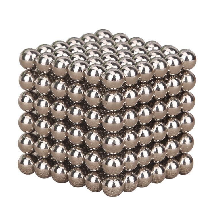 216pcs Silver Color Magic Cube Balls Toys Multi Molding Educational toys Anxiety Stress Adults Kid Metal