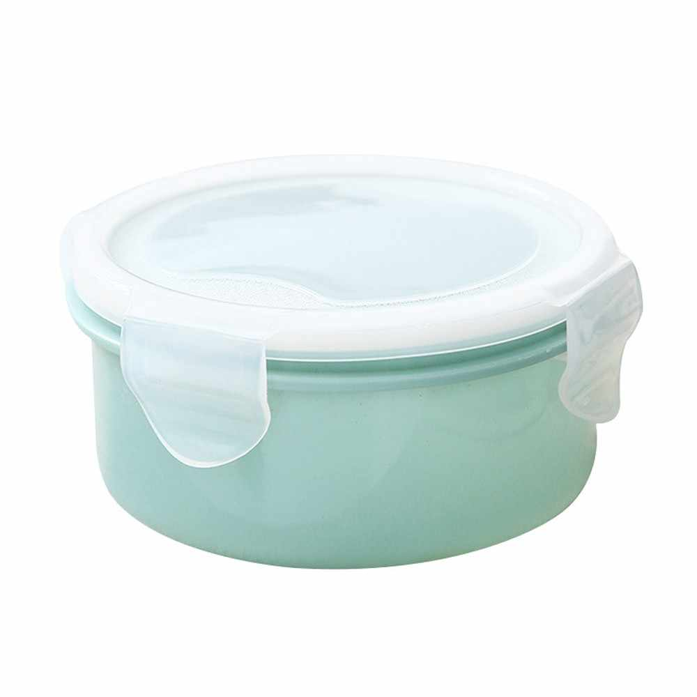 Small Lunch Box Food Refrigerator Storage Box Plastic Mini Round Dinnerware Portable Picnic Food Storage Container Lunchbox