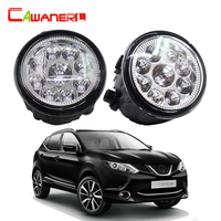 Cawanerl 2 Pieces Car LED Light Fog Light DRL Daytime Running Light For Nissan Qashqai J11